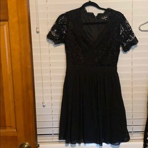 Lulus Black Lace Dress NWOT